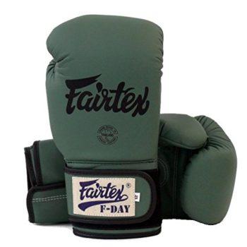 Fairtex-Muay-Thai-Boxing-Gloves-Limited-Edition-BGV11-F-Day-Military-Green-Size-10-12-14-16-oz-Training-Sparring-Gloves-for-Muay-Thai-Kick-Boxing-MMA-K1-Military-Green-14-oz-0-1