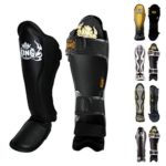 Top-King-Shin-Guard-Protector-for-Protection-in-Muay-Thai-Boxing-Kickboxing-MMA-BlackBlackS-0