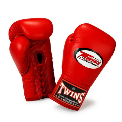 Shiv Naresh Teens Boxing Gloves 12oz: Twins-Special-Gloves-Lace-Closure-BGLL-1-Color-Red-Size-8