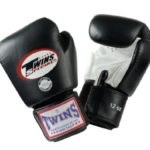 Twins-Special-Muay-Thai-Boxing-Gloves-Dual-Color-Premium-Leather-w-Velcro-BlackWhite-10oz-0