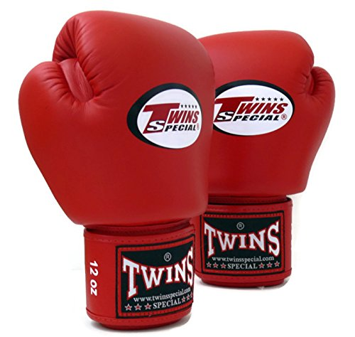Twins Specials Boxing Gloves BGVL3 Red  Size 8 10 12 14 16 oz  Universal,  All Purposes (Training, Sparring, Bag) Gloves for Muay Thai Kick Boxing MMA