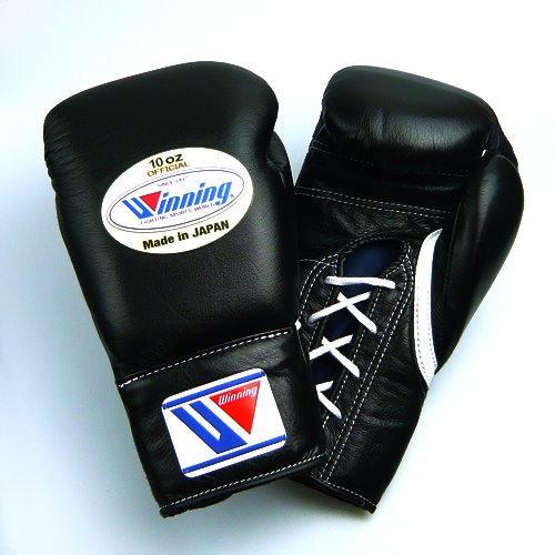 Winning Professional Boxing Gloves 10oz Black Fight